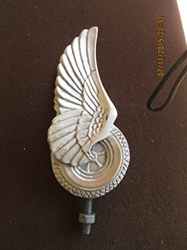 Vintage Rare Flying Tire Hotrod Car Hood Ornament