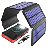 BLAVOR Solar Charger Five Panels Detachable, Qi Wireless Charger 20000mAh Portable Power Bank