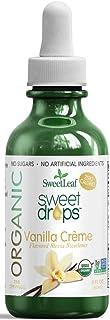 SweetLeaf Organic Sweet Drops Vanilla Crème Flavored Stevia Sweetener, 2 Oz