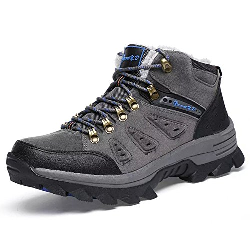 Botas de Nieve Hombre Zapatos Al Aire Libre Boots Invierno Alto Rise Cuero cálido Calentar