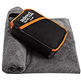 Rainleaf Microfiber Bath Towel Quick Dry Bath Swimming Towel,Oversized,Ultra-Compact,Super Absorbent,Washcloths for Bathroom, Shower,Travel,Backpacking-Gray 24'x48'