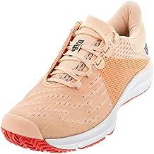 WILSON KAOS 3.0 Tennis Shoes Women, Tropical Peach/White/Cayenne, 6