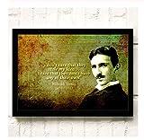 NVRENHUA Berühmte Wissenschaftler Nikola Tesla Poster und