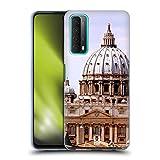 Head Case Designs Basílica De San Pedro Ciudad del Vaticano Plazas de La Ciudad Famosa Carcasa de Gel de Silicona Compatible con Huawei P Smart (2021)