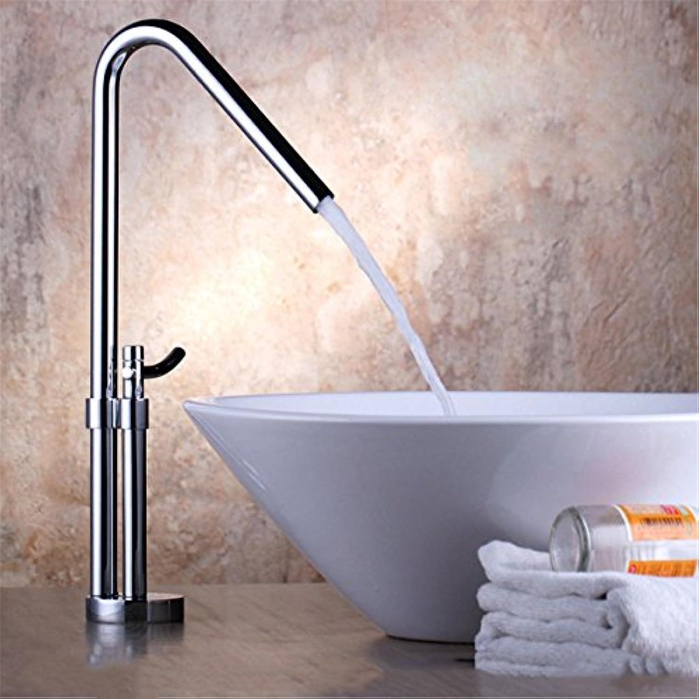 Badezimmer-Küche-Wannen-Hahn, Badezimmer-Bassin-Wasserfall-Mischer-Hahn-Stilvoll und Kaltwasserwanne Taps Waschbecken Wasserhahn