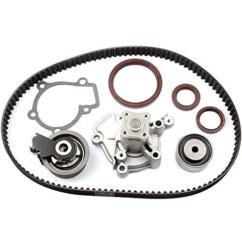 ECCPP Engine Timing Belt Tensioner Water Pump Kit For Hyundai Kia 2.0L G4GC G4GF