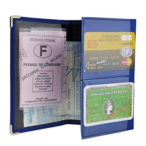 Charmoni-Tür-Papier, 3-teilig, Führerschein grau aus glattem Crustleder (Cb Majorics Kalbsleder