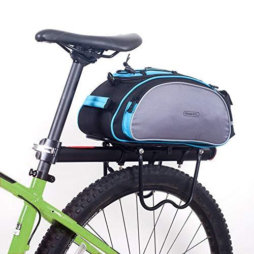 Bolsa de Asiento de Bicicleta de Poliéster 600D Bolsa Trasera de Ciclismo con Bandolera para el Almacenamiento de Herramientas de Reparación de Botellas de Agua de Bolsillo