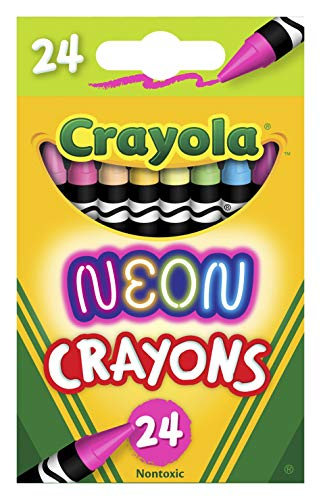 Crayola Neon Crayons, Back To School Supplies, 24Count, Multi (523410)