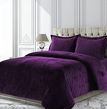 Best purple velvet bedding Reviews
