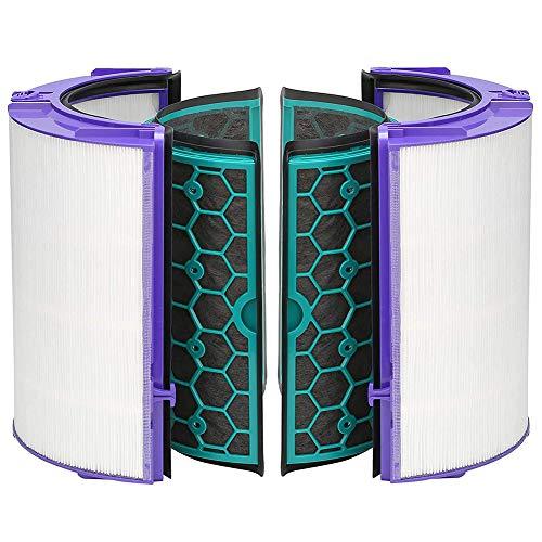 Remplacement Filtre Hepa & Activé Filtre Carbone pour Dyson TP04 TP05 HP04 HP05 DP04, Purificateur Air Accessoires 360° Filtre Système pour Dyson Pure Refroidir Purification Ventilateurs - Blanc