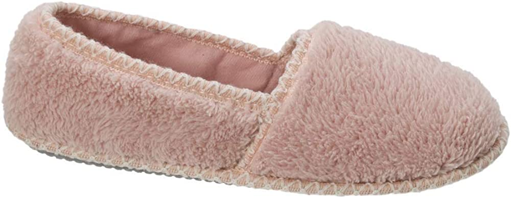Dearfoams Womens Closed Back A-Line Slipper with Skid Resistant Rubber Outsole