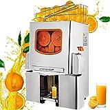 VEVOR Exprimidor de Naranjas 120W Máquina Automática Comercial 20 Naranjas/min Exprimidor Eléctrico de Naranjas 45x34x78.5cm Exprimidor Naranjas Zumo Industrial 42 kg para Jugo de Rango de limón