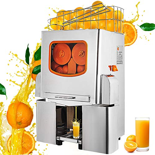 VEVOR Exprimidor de Naranjas 120W Máquina Automática Comercial 20 Naranjas/min Exprimidor...