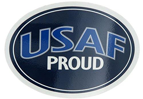 Eagle Crest U.S. Air Force USAF Proud USA Military Oval Car Refrigerator Magnet