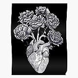 Graphic Heart Love Line Pen Lovely Anatomy Ink El póster de decoración de interiores más impresionante y elegante disponible en tendencia ahora