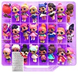 HOME4 LOL Double Sided Storage Container - No BPA - Organizer Case - 48 Compartments - Compatible with Dolls LOL lils, Pets, Surprise Tiny Toys, Shopkins, Accessories, Beads, Crafts (Purple)