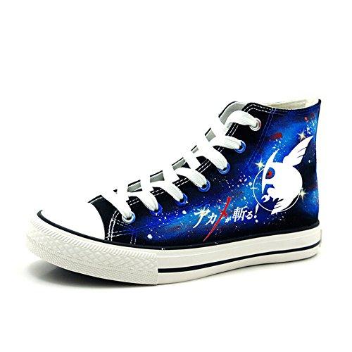 Akame Ga Kill. Anime noche Raid Logo Cosplay zapatos lienzo zapatos Zapatillas luminoso, Azul