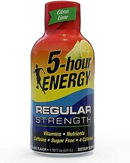 5-hour ENERGY Shot, Regular Strength Citrus Lime, 1.93 oz. 24 count