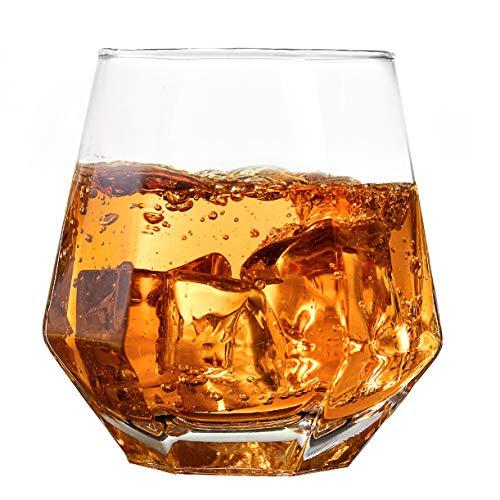 Old Fashioned Glasses, Slaouwo Set of 4 Cocktail Glasses