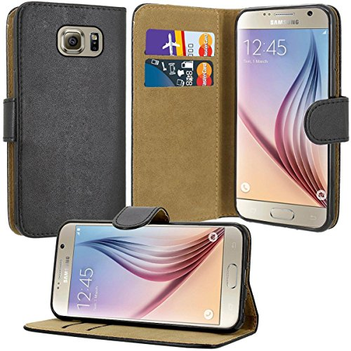Case Collection Premium Leather Folio Cover for Samsung Galaxy S6 Case...
