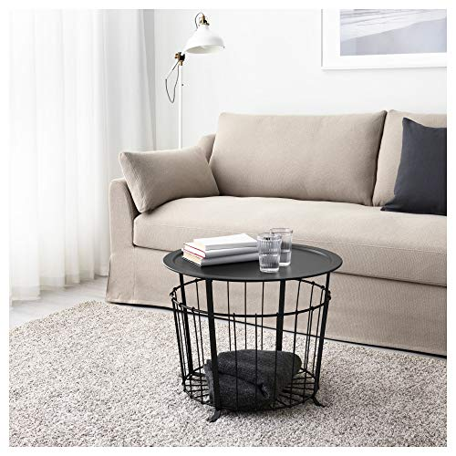 IKEA 703.403.79 Gualöv - Mesa de Almacenamiento, Color Negro