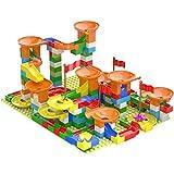 HHHAAA Kugelbahn Bausteine, 320 pcs ABS-Kunststoff Kinderbausteine Spielzeug, Kugelbahn Mega-Baukasten, für 2-6 Jahre Alt Jungen Mädchen Geschenk Spielzeug