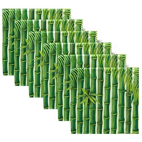 Servilletas de Tela Arte Abstracto Japón Servilletas de Cena de bambú japonesas Juego de 6, Servilletas de Mesa Reutilizables para cócteles, Vacaciones, Bodas, hogar, decoración