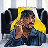 KRR 2pac Warm Flannel Blanket Throw Ultra Soft Lightweight Plush for Bed Couch Living Room(60'x50')