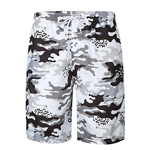 Un Pantalon Homme, YanHoo® Hommes imprimés Poche Plage Le maillot de corps Lingerie Décontracté Garçons Outfit Pantalons Pantalons de survêtement été (L, Multicolore)