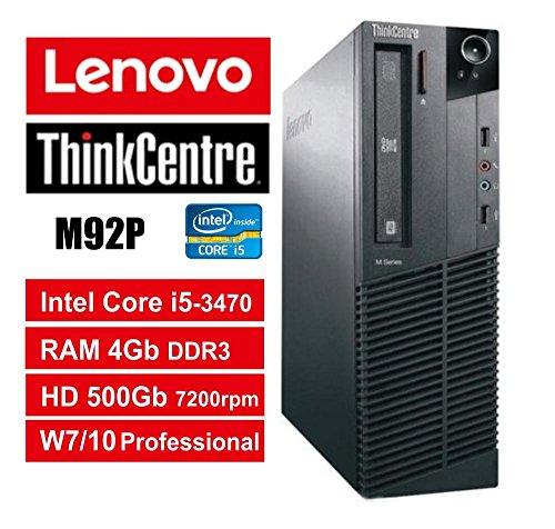 PC Lenovo ThinkCentre M93P SFF - Core i5-4570, RAM 8 GB, HDD 500 GB 7200 rpm, DVDRW, Windows 7 Pro + Windows 10 Pro UpGrade (Reacondicionado)