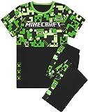 Minecraft Pyjamas Boys Long OR Short Bottom Options Kids Gamer PJs (Long 7-8 Years)
