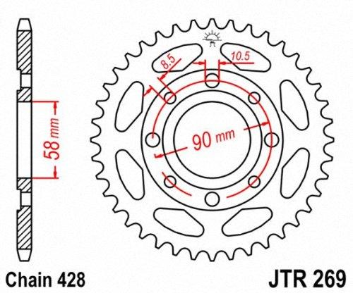 JT Sprockets JTR269.43 43T Steel Rear Sprocket