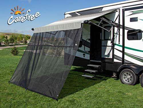 Carefree 701508ACD Black 15' x 8' Drop RV Awning EZ ZipBlocker