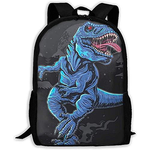 Lmtt Rucksack T-Rex Dinosaurier Wut wütend Bookbag lässig Reisetasche für Teen Boys Girls