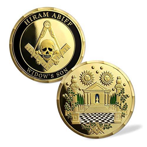 Masonic Challenge Coin Grand Master Hiram Abiff Widow's Son Freemason Blue Lodge Commemorative Coins Gift
