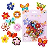MINI-FACTORY Bike Wheel Spokes Decoration Stickers for Kids - Colorful Cute Pattern Sticker Bicycle Bead Attachments - 24Pcs - 12 Different Designs (Set 1)