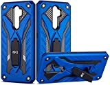 Funda Protectora para móvil Oppo A9 2020 Con Soporte Diseño Armadura Resistente Elegante A Prueba de Golpes Carcasa Rígida Antigolpes Híbrida Reforzada Dura Doble Capa Case (Oppo A9 2020, Azul)