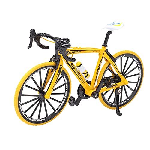 LULE Bicicleta de dedo, Mini modelo de ciclismo Diecast Toy Desk Craft Collection, juguetes de metal en miniatura, deportes extremos bicicleta de montaña creativa regalo para niños