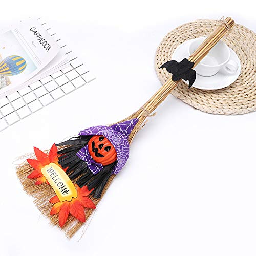 Yiwa Halloween-decoratie hanger heks bezem podium vogelverschrikker accessoires DIY