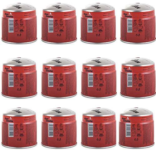 WEST&EAST Cartucho de gas butano con válvula de seguridad oculta, hornillo de camping, hornillo de gas, 190 g, 12 cartuchos