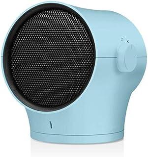 Calefactor De Cerámica De 1000 Vatios con Termostato Ajustable, Otoño E Invierno, Mini Calefactor De Escritorio, Máquina De Calefacción para El Hogar 220V,Blue