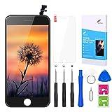 BuTure Pantalla Táctil LCD para iPhone 7, Pantalla con Herramientas de reparación y Protector de Pantalla (For iPhone 6 Negro)