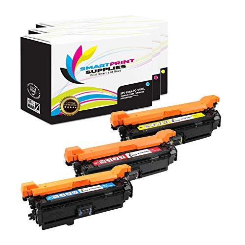 Smart Print Supplies Compatible 651A CE341A CE342A CE343A Premium Toner Cartridge Replacement for HP Color Laserjet MFP M775D, Enterprise 700 M775DN M775Z+ Printers (Cyan, Magenta, Yellow) - 3 Pack