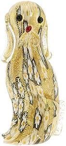 glassofvenice cristal de Murano Golden edredón multicolor perro