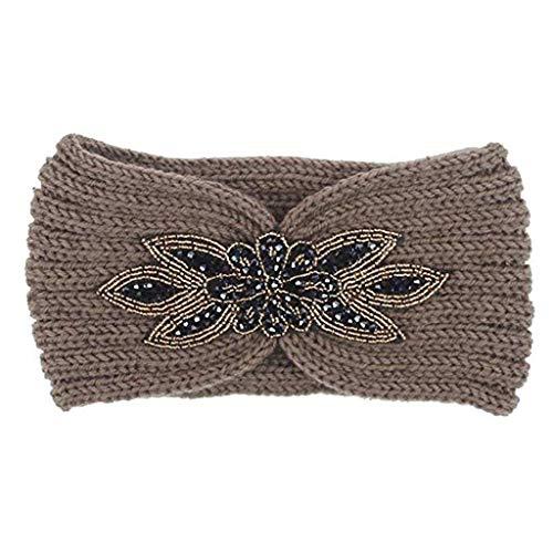WANBAO Beautiful Crown Moda Lentejuelas para Mujer Punto Cabello Banda de Pelo...