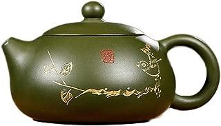 SHENLIJUAN Boutique hot tea set famous handmade Yixing teapot Original mining country green mud Yayi Xi Shi purple sand pot (Color : Republic of China Green Mud)