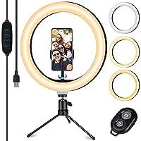 TVLIVE Luce per Selfie, 10 pollici con telecomando wireless