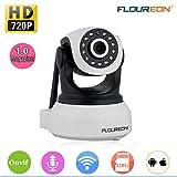 FLOUREON Caméra IP 720p Caméra de Surveillance sans Fil Caméra de Sécurité WiFi ONVIF Vision...