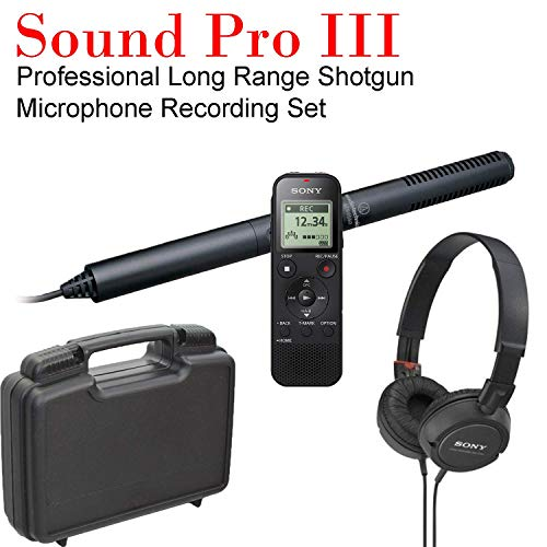 Sound Pro III Professional Series Long Range Shotgun Condenser Microphone Recording System